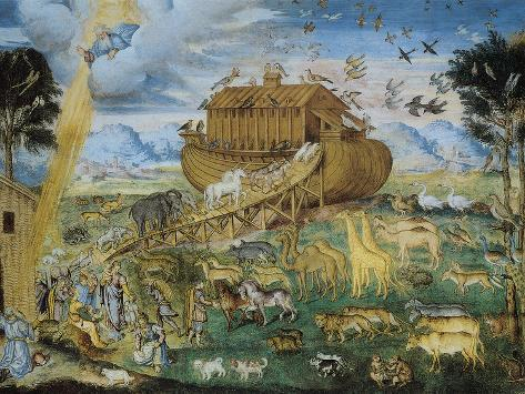 The Animals Enter Noah's Ark Giclee Print