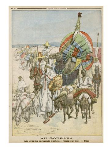 The Annual Migration of Algerian Tribes, for the Purpose of Trading Impressão giclée