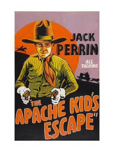 The Apache Kid's Escape Art Print