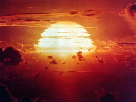 The Apache Shot, Was a 1.85 Megaton Hydrogen Bomb, Enewetak Atoll on July 8, 1956 Photo