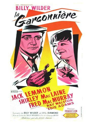 The Apartment, French Movie Poster, 1960 Art Print