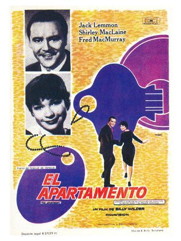 The Apartment, Spanish Movie Poster, 1960 Art Print