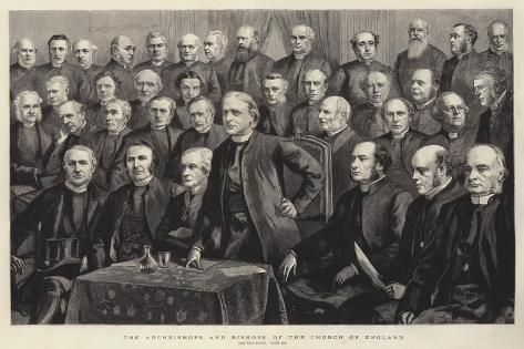The Archbishops and Bishops of the Church of England Lámina giclée