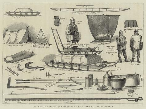 The Arctic Expedition, Apparatus to Be Used by the Explorers Giclée-vedos