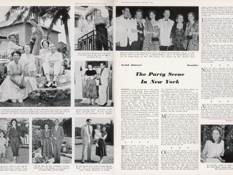The Aristocracy in Nassau Photographic Print