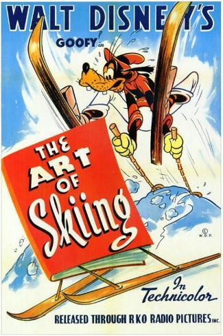 The Art of Skiing Framed Art Print