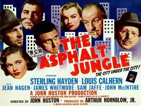 Image result for the asphalt jungle poster