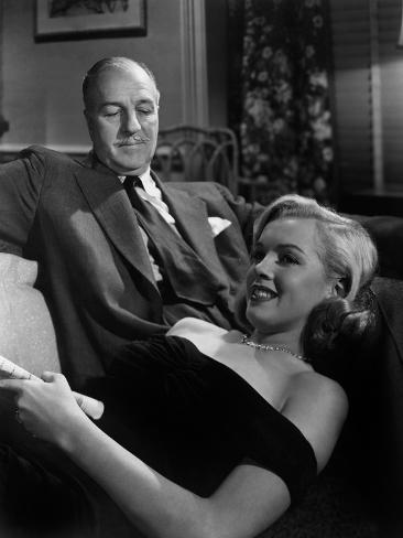 The Asphalt Jungle, Louis Calhern, Marilyn Monroe, 1950 Photo