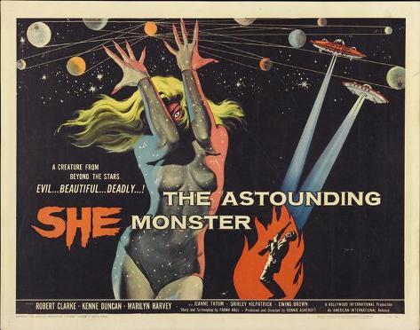 The Astounding She-Monster -  Style Poster