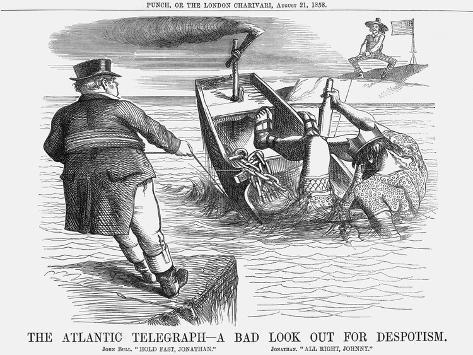 The Atlantic Telegraph - a Bad Look Out for Despotism, 1858 Giclee Print