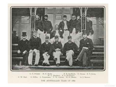The Austalian Cricket Team of 1882 Giclee Print