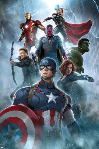 The Avengers: Age of Ultron - Captain America, Black Widow, Hulk, Hawkeye, Vision, Iron Man, Thor Poster