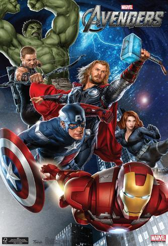 The Avengers Group Movie Poster Poster