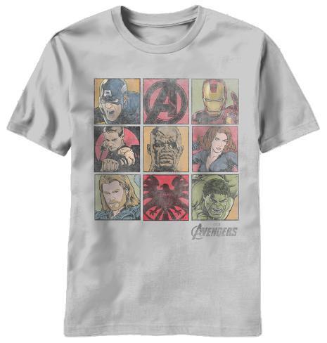 The Avengers - Square Biz T-Shirt
