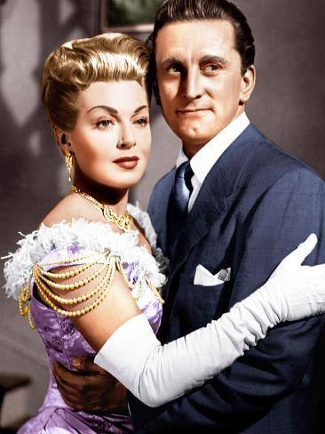 THE BAD AND THE BEAUTIFUL, from left: Lana Turner, Kirk Douglas, 1952 Fotografía