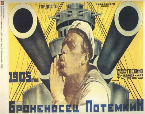 The Battleship Potemkin - Russian Style Poster