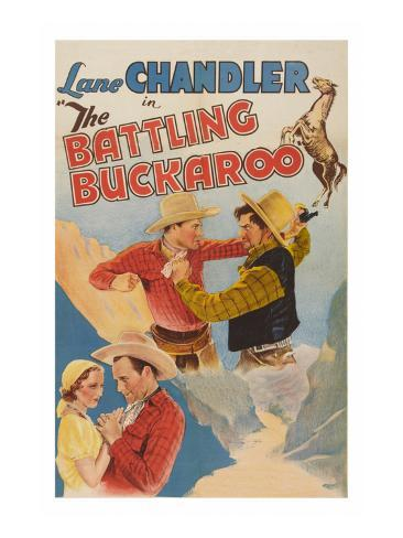 The Battling Buckaroo Art Print