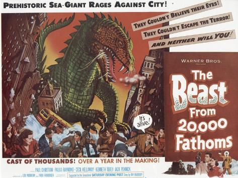 The Beast From 20,000 Fathoms, 1953 Art Print