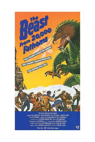 The Beast from 20,000 Fathoms - Movie Poster Reproduction Art Print