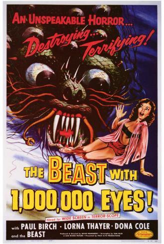 The Beast With 1,000,000 Eyes Poster
