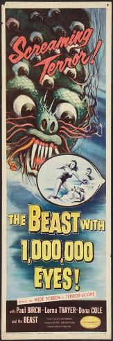 THE BEAST WITH A MILLION EYES, insert poster, 1955. Art Print