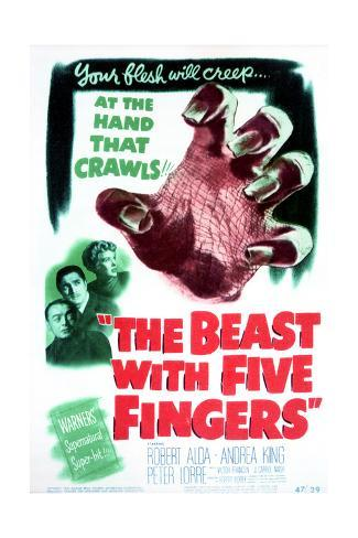 The Beast with Five Fingers - Movie Poster Reproduction Stampa artistica
