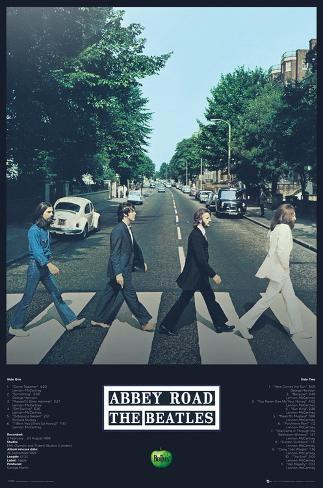 The Beatles Abbey Road Tracks Póster