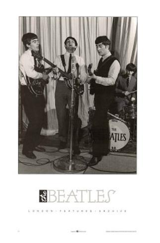 The Beatles on Stage Art Print