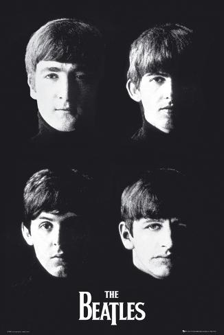 The Beatles With Poster