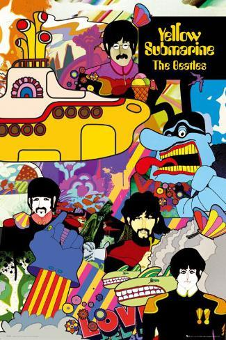 The Beatles - Yellow Submarine Poster