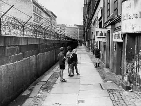 the berlin wall separating west berlin and east berlin five years after being built 1966. Black Bedroom Furniture Sets. Home Design Ideas