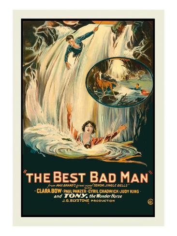 The Best Bad Man Stretched Canvas Print