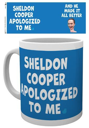 The Big Bang Theory - Sheldon Cooper Apologised Mug Mug