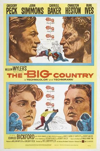 The Big Country, 1958 Gicléetryck