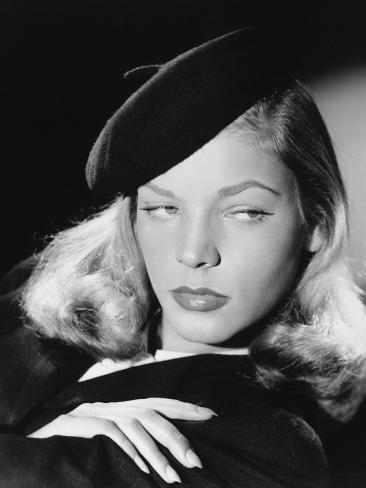 The Big Sleep, Lauren Bacall, Directed by Howard Hawks, 1946 Fotoprint