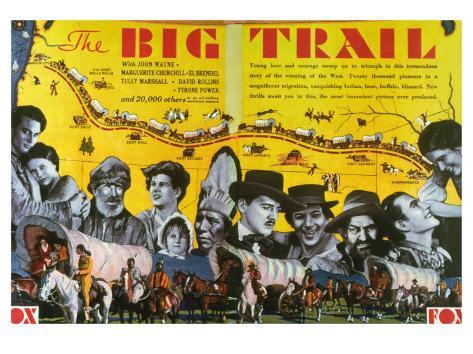 The Big Trail, 1930 Konstprint