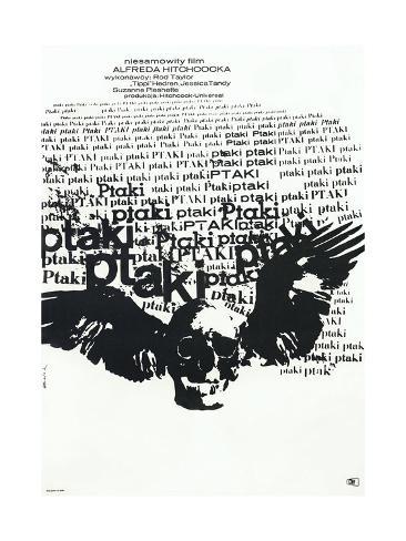 The Birds, (aka Ptaki), Polish poster, 1963 Premium Giclee Print
