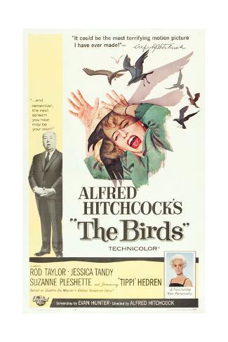 The Birds, Alfred Hitchcock, Jessica Tandy, Tippi Hedren, 1963 Premium-giclée-vedos