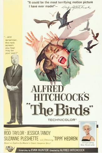 The Birds, Alfred Hitchcock, Jessica Tandy, Tippi Hedren, 1963 Art Print