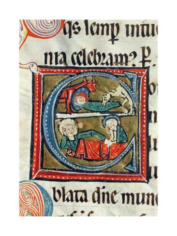 The Birth of Jesus, from the Missal Oxemense Lámina giclée