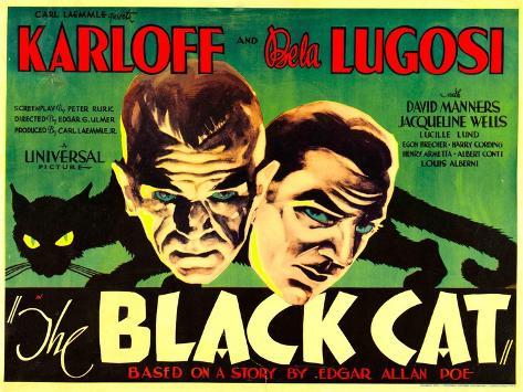 The Black Cat, Boris Karloff, Bela Lugosi, 1934 Photo