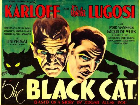 The Black Cat, Boris Karloff, Bela Lugosi, 1934 Konstprint