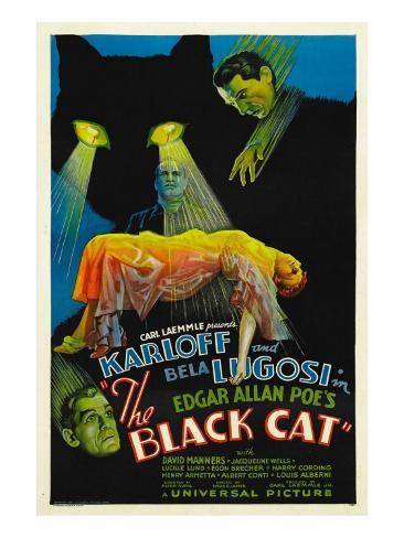 The Black Cat, Boris Karloff, Harry Cording, Jacqueline Wells, Bela Lugosi, 1934 Photo