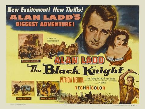The Black Knight, UK Movie Poster, 1954 Art Print