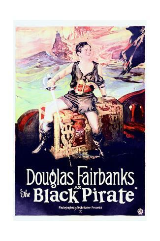 The Black Pirate - Movie Poster Reproduction Stampa artistica