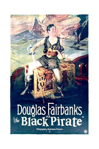 The Black Pirate - Movie Poster Reproduction Premium Giclee Print