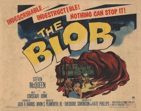The Blob -  Style Poster