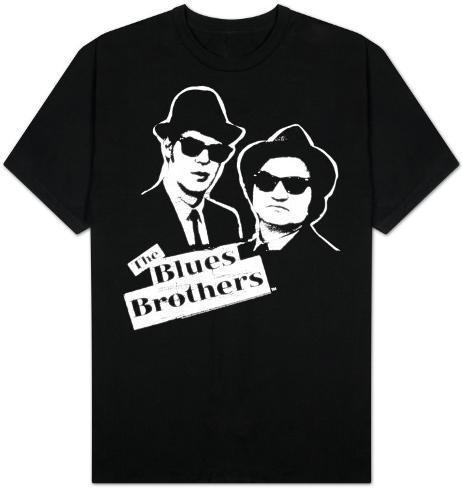 The Blues Brothers - B&W Blue T-Shirt