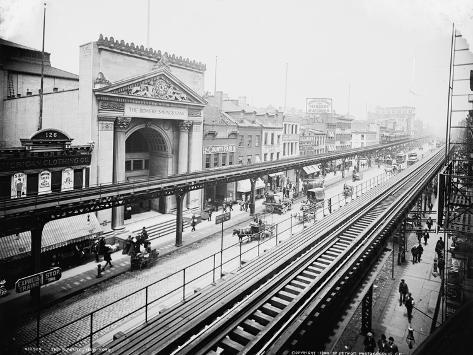 The Bowery, New York, C.1900 Photographic Print