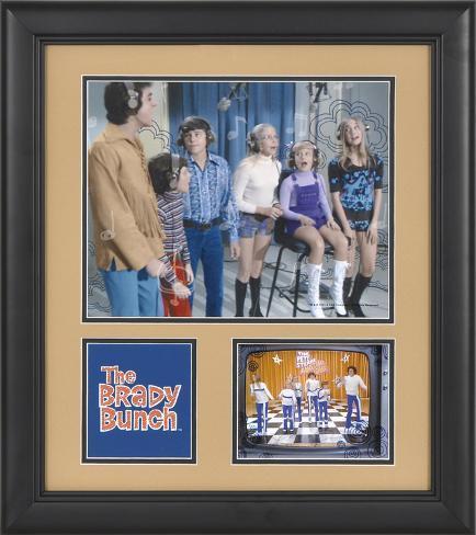 The Brady Bunch 15x17 framed presentation Framed Memorabilia